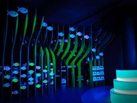 Illuminated Aquatic Exhibits