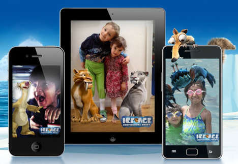 Augmented Reality Cartoon Photos - Ice Age: Continental Drift App Offers Interactive Fun