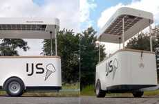 Solar-Powered Confectionery Vehicles - The Springtime Ice Cream Carts are Environmental