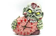 Brain-Devouring Clocks - The Zombie Clock Will Wake You Up in Time for the Apocalypse