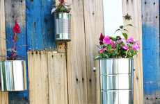 Tin Can Flower Pots - The 'Pallet Vertical' Garden is a Great Summer Project