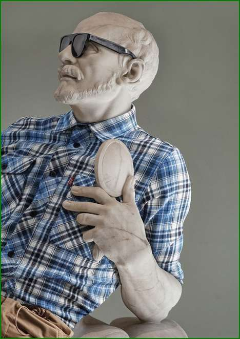 Hipster Historical Statues