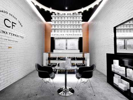 Monochromatically Branded Shops