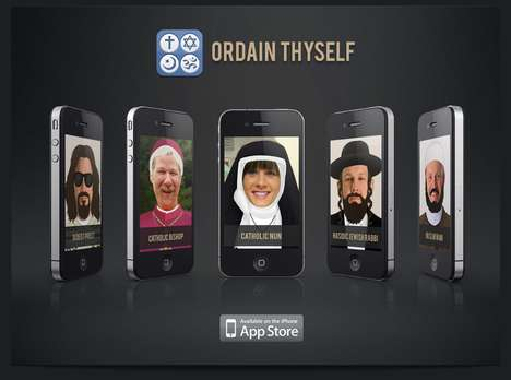 Religious Photobooth Apps - Ordain Thyself Lets You See Yourself as a Leader of Any Faith