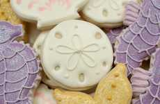 Beachy Iced Biscuits