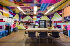 Colorful Crammed Headquarters - The Hurley Campus Is Bursting With Branded Features