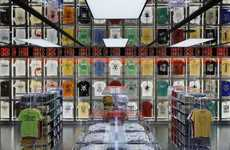 Stacked Shirt Shops - The Uniqlo Ginza by Wonderwall Inc. Highlights Transparent Design