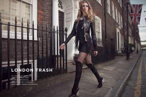 Textured Leather Fashion