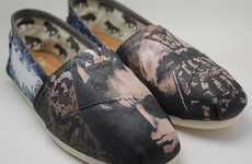 Superhero Film Shoes - The Dark Knight Rises Toms Shoes Commemorate the Final Batman Installment