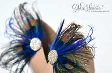 Jeweled Peacock Accessories - The Peacock Clip-Ins are Exotically Gorgeous