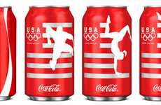 Patriotic Acrobat Cans - The Turner Duckworth Team USA Coke Olympic Collector Series is Sensational