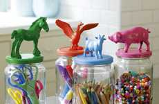 DIY Animated Jar Lids - The 'House to Home' Site Shows How to Make Playful Containers