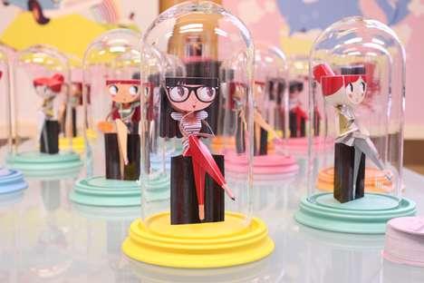 Encased Paper Doll Displays