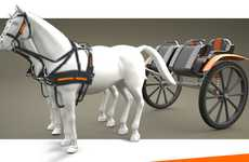 Industrialized Antiquated Transportation - The Hx2 Horse-Drawn Hitch Wagon is More Up to Speed