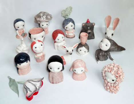 Surreal Ceramic Figurines