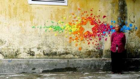 Rainbow Graffiti Papercraft