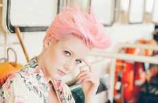 Cotton Candy-Haired Editorials