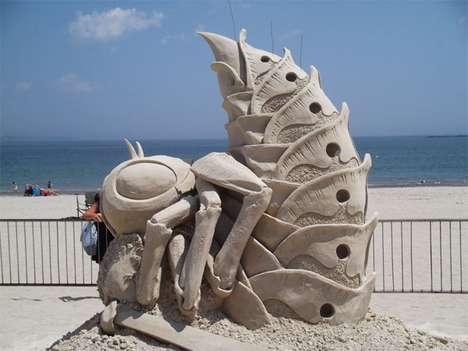 Stinging Sandy Sculptures