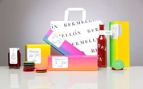 Savory Confectionery Packaging - The Bermellon Mexican Candy Branding Denotes Premium Quality