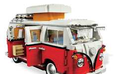 Blocked Hippie Autos - The LEGO VW Camper Van is a Fabulous Retro-Themed Puzzle