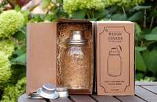 Rustic Jar Cocktail Devices - The Mason Shaker is a Fun Simple Southern Design