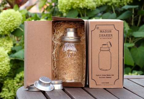 Rustic Jar Cocktail Devices