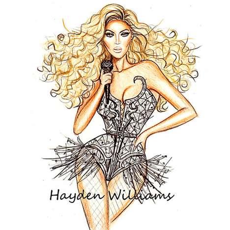 Fashion Icon Illustrations