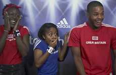 Adorable Soccer Star Surprises - David Beckham Photobombs for Adidas