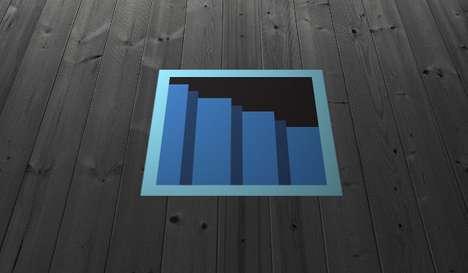 Pixelated Vinyl Stairway Portals