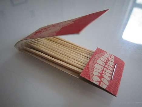 Matchstick-Holding Business Cards