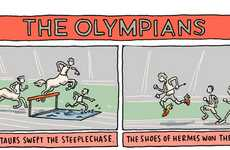 Mythical Sports Event Art - This 'Olympians' Comic by Grant Snider is Clever