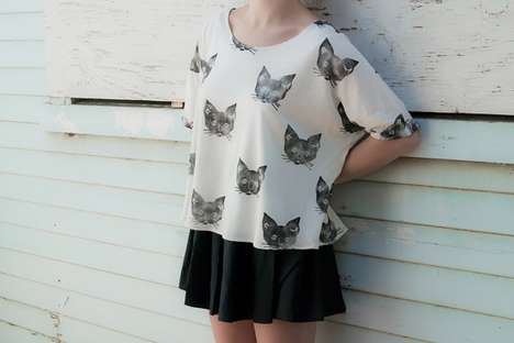 The Leah Goren Kitty Cat Tee is a Quirky Tribute to Your Clawed Counterpart