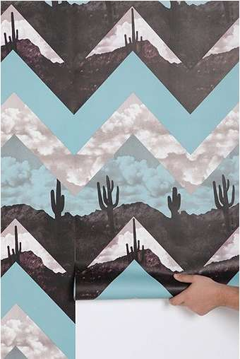 The Urban Outfitters Chevron Wallpaper is Dynamic