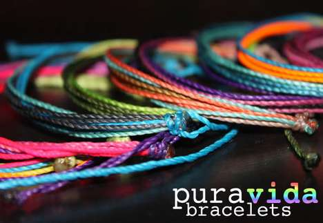 Philanthropic Woven Accessories - Pura Vida Bracelets Supports Artistans in Costa Rica