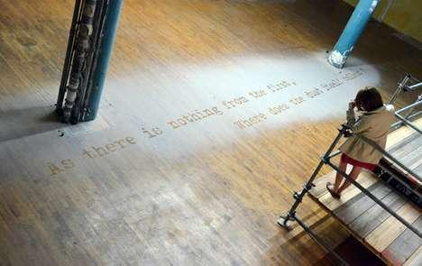 Floor Poem Installations