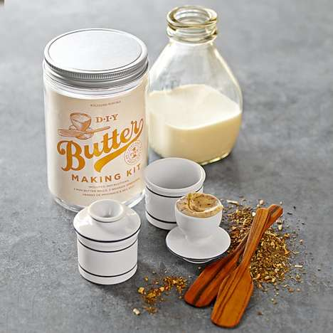 Custom-Churned Condiments - Make Your Own Spreads with the Williams-Sonoma Butter-Making Kit