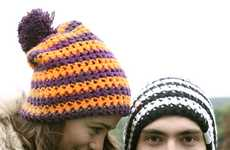 Candy-Striped Knitted Toques