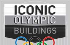 Architectural Sporting Timelines - The Iconic Olympic Buildings Infographic is a Trip Back in Time