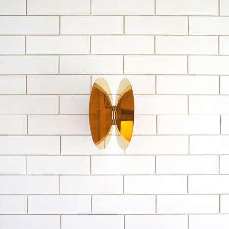 Butterfly-like Brass Mirrors