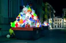 Scorching Trash Installations - The Luzinterruptus 'Plastic Garbage Guarding the Museum' is Bold
