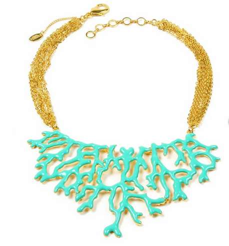 The 'Amrita Singh Coral Branch Necklace' Boasts a Gorgeous Ocean Theme