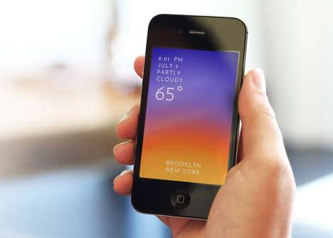 Color Gradient Meteorology - The 'Solar' App Displays the Weather in Real-Time Colors