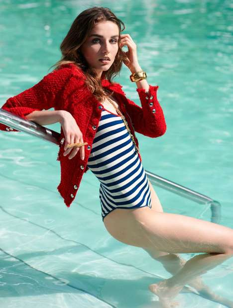Haute Pinstriped Beach Couture