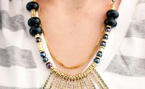 Spiky Bejeweled Necklaces