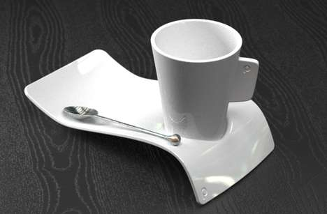 Sinuous Sculptural Saucers