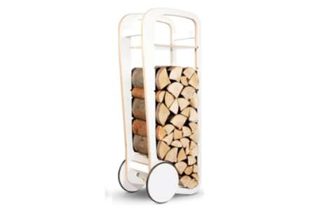Wheeled Firewood Storage
