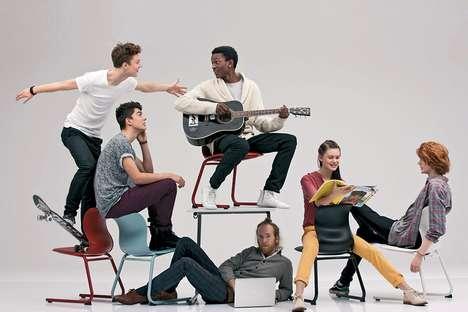 Movement-encouraging School Chairs