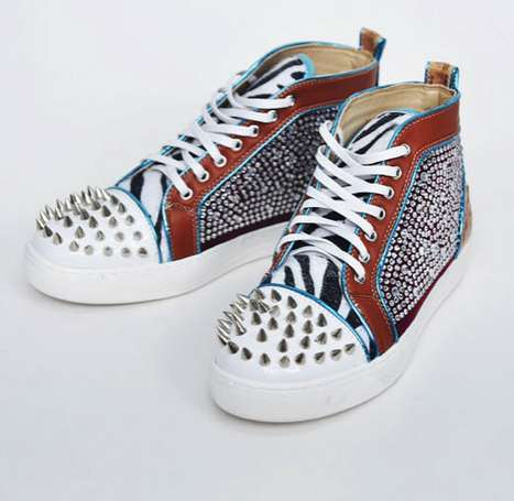 Affordable Couture Sneakers - Guylook's Jewelry Spikes High Shoes Offer Elite Style at a Low Price