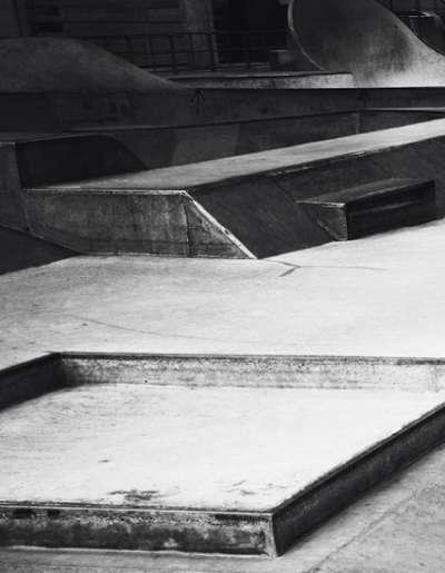 Monochromatic Skateboard Pictorials