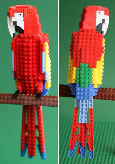 The Tropical Birds by Tom Poulsom are Colorful Block Figures